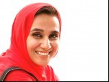 Bust shot of woman with hijab from Pakistan