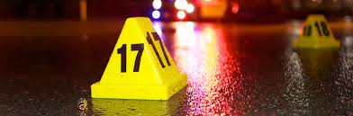 Iconic yellow plastic markers used in criminal investigation