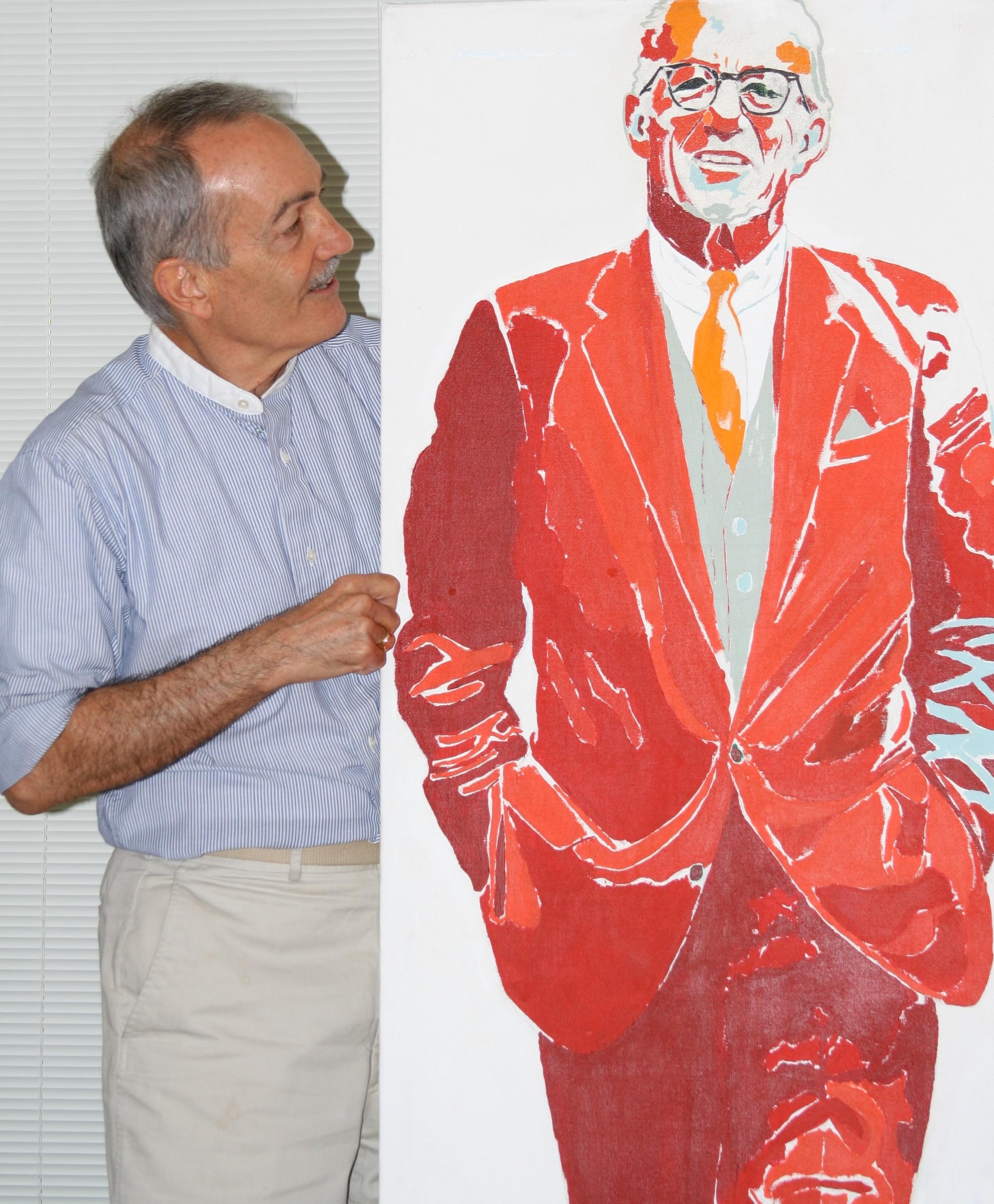 Karl Schonborn Painting Of Activist Amp Baby Doctor Karl