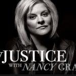 Injustice - black n white photo of host Nancy Grace