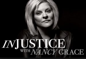 Injustice - black n white photo of host Nancy Grace