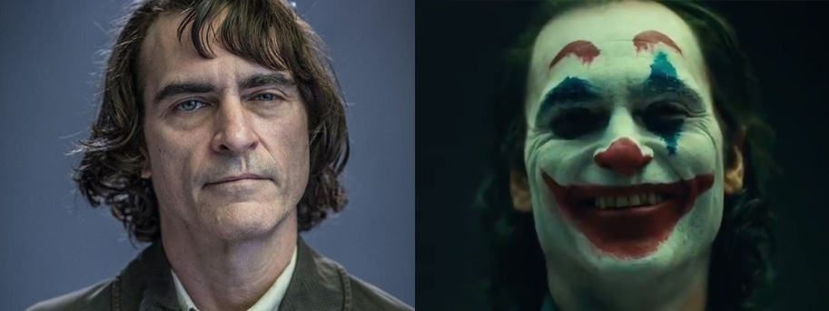 Cleft Joaquin Phoenix -before and after makeup.