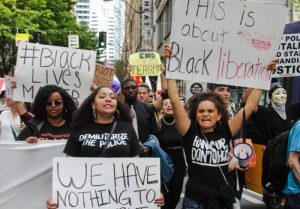 White Privilege and BLM join in recent protest. BLM